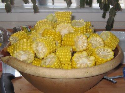 Vores del af sammenskudsgildet - med både alm. smør og hvidløgssmør.