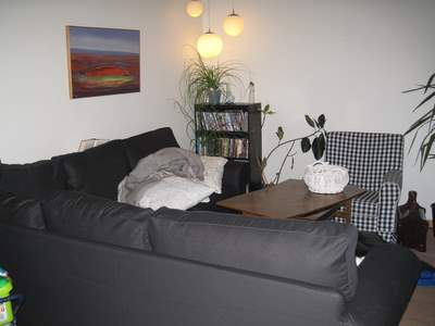 Min nye sofa og vores nye lamper.