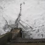 Isens skruninger ved broen over til Odden.