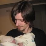 Første billede af far og datter