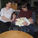 Hele familien samlet for første gang